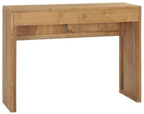 288842 vidaXL Masă consolă, 100 x 35 x 75 cm, lemn masiv de tec