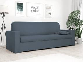 Husa elastica pentru canapea cu 3 locuri Classic albastra