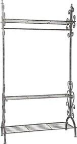 Garderoba Romance din metal gri 98x37x184 cm