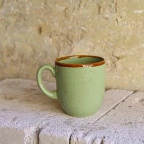 Cana Gardena din ceramica verde 9 cm