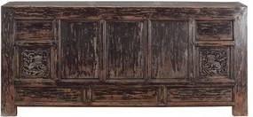 Bufet inferior din pin maro 200 cm Sideboard