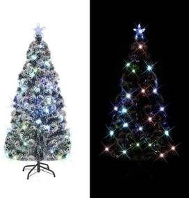 Brad artificial Crăciun stativ oțel, 220 ramuri, iluminare LED 180 cm