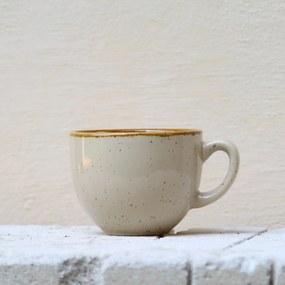 Ceasca Gardena din ceramica crem 7 cm