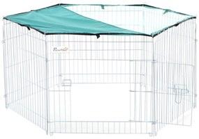 PawHut Tarc modular pentru Animale cu Acoperire Impermeabila 6 Module 59 x 60cm