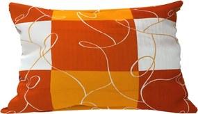 Pernă decorativă Sah portocaliu