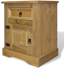 243730 vidaXL Noptieră din lemn de pin mexican, colecție Corona, 53x39x67 cm