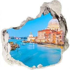 Fototapet 3D gaură în perete Veneția Italia