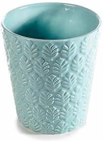 Ghiveci pentru flori ceramica albastru Ø 13 cm x 14 H