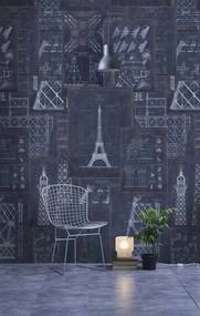 MINDTHEGAP Tapet - Grand Eiffel Blue