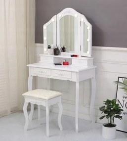 Masă de toaletă cu oglindă LED Victoria Rose