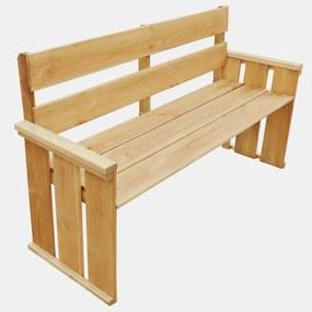 43259 vidaXL Bancă de grădină, 160 cm, lemn de pin tratat