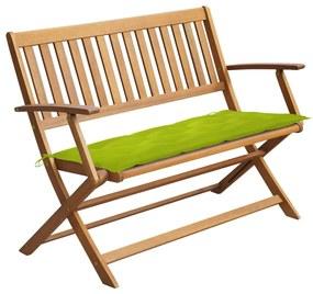 3064265 vidaXL Bancă de grădină cu pernă, 120 cm, lemn masiv de acacia