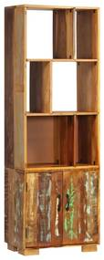 247480 vidaXL Bibliotecă, 60 x 35 x 180 cm, lemn masiv reciclat