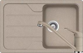 Set Chiuveta Schock Formhaus D-100S 780 x 500 mm si Baterie Schock Cosmo Sabbia Cristalite