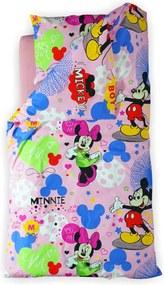 Lenjerie pat copii 3 piese - Minnie 2-8 ani