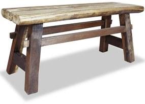 244497 vidaXL Bancă din lemn masiv reciclat 100x28x43 cm