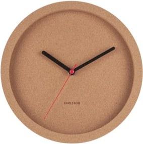 Ceas din plută pentru perete Karlsson Tom, ⌀ 26 cm, maro