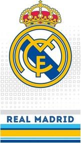 Prosop Real Madrid Cubes Grey, 70 x 140 cm