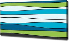 Pictură pe pânză Dungi colorate