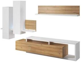Expedo Mobilă sufragerie TAMBA, alb/stejar Grandson
