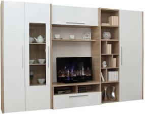 Living Smart alb-stejar 300/45/196 cm