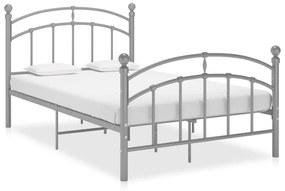 324975 vidaXL Cadru de pat, gri, 120 x 200 cm, metal