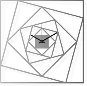Ceas de perete de dimensiuni medii, din oțel inoxidabil 38x38 cm - Pătrate | DSGN
