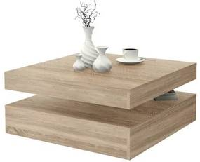 Masa cafea rotativa Magic, Stejar Sonoma | Naturlich