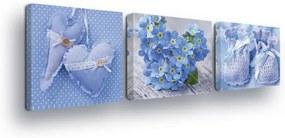 GLIX Tablou - Blue Children's Decorations 3 x 25x25 cm