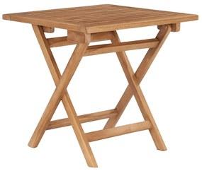 48977 vidaXL Masă de grădină pliabilă, 45 x 45 x 45 cm, lemn masiv de tec