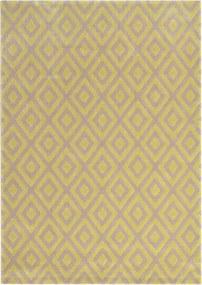 Covor crem cu model geometric galben Vegas 244 (3 dimensiuni 140x200 - 200x290) - 140x200