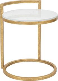 Masuta Round Marble 40x43x50 cm Mauro Ferretti