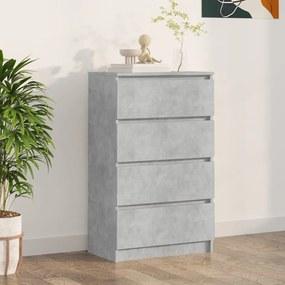 800535 vidaXL Servantă, gri beton, 60 x 35 x 98,5 cm, PAL