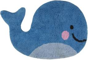 Covoraș decorativ Happy Whale, bumbac