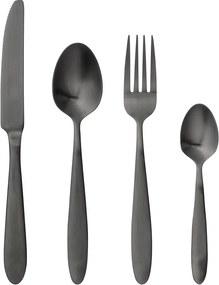 Set 4 tacâmuri Bloomingville Cutlery Eleganza, negru