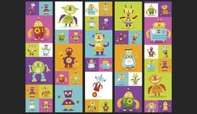 Bimago Tapet - Colorful Robots role 50x1000 cm