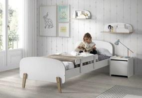 copii pat puștiulică alb barieră