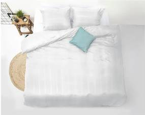 Lenjerie de pat din micropercal Zensation Satin Montreal, 140 x 200 cm, alb