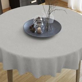 Goldea față de masă decorativă loneta - gri deschis - rotundă Ø 60 cm