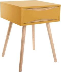 Noptieră Leitmotiv Cabinet Buoyant, galben