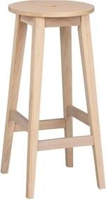 Scaun din lemn de stejar, mat, Rowico Metro, înălțime 75 cm