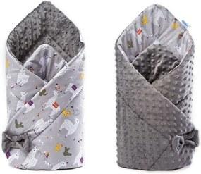 Sensillo - Paturica nou-nascut  Minky Wrap gri 80x80 cm