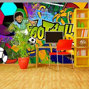 Bimago Fototapet - Football Cup 200x140 cm