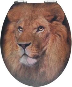 Capac WC din lemn 3D Wenko Lion, 44,5 x 38 cm