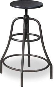 Scaun bar Tango nuc inchis - H 65-85 cm