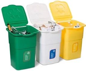 Coș pentru selectare deșeuri Eco 3 Master 50 l, 3 buc