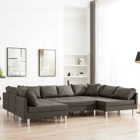 287213 vidaXL Canapea modulară, gri taupe, material textil
