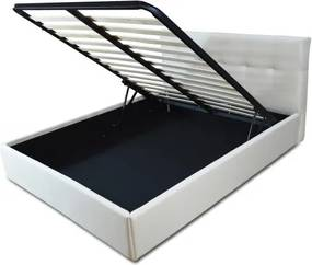 Pat tapitat somiera metalica rabatabila inclusa, dimensiune 90x200, material si culoare la alegere – Model Neghys