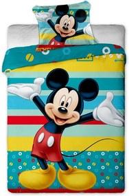 Lenjerie de pat pentru copii Mickey turcoaz, 140 x 200 cm, 70 x 90 cm