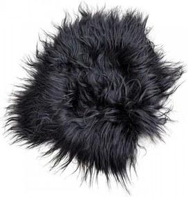 Perna sezut neagra din blana de oaie 70x70 cm Sheepskin